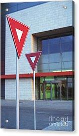 Street Signs Acrylic Print by Cosmin Munteanu