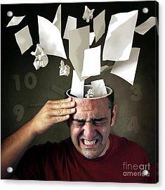 Stressed Acrylic Print by Carlos Caetano