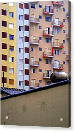 Buildings Acrylic Print featuring the photograph Striped by Roberto Alamino