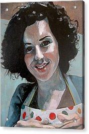 Study For Marilu' Acrylic Print by Ray Agius