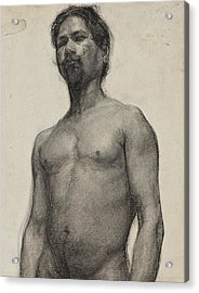 Study Of A Negro Man Acrylic Print by Henry Ossawa Tanner