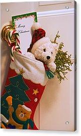 Stuffed Christmas Stocking Acrylic Print by Carson Ganci