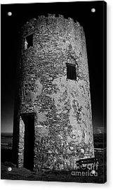 Stump Remains Of Portaferry Windmill On Windmill Hill Portaferry Ards Peninsula County Down  Acrylic Print by Joe Fox