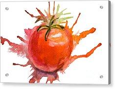 Stylized Illustration Of Tomato Acrylic Print by Regina Jershova