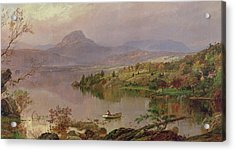 Sugarloaf From Wickham Lake Acrylic Print by Jasper Francis Cropsey
