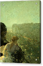 Summer Evening In Paris Acrylic Print by Childe Hassam