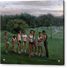 Summer Evening Meet Acrylic Print by Sarah Yuster