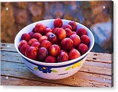 Summer Fruits Acrylic Print by Manolis Tsantakis