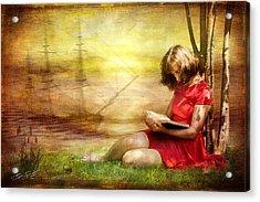 Summer Reading Acrylic Print by Svetlana Sewell