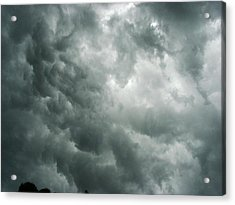 Summer Storm Clouds Acrylic Print by Marian Hebert