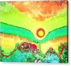 Sun Crackle Acrylic Print by Kay Sawyer