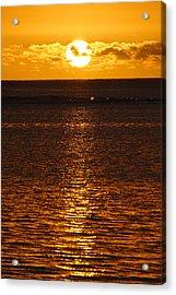 Sun Over Horizon Acrylic Print by Steeve Dubois