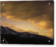 Sun Set Eagle River Acrylic Print by Grover Woessner