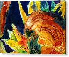 Sunflower Head 3 Acrylic Print by Kathy Braud