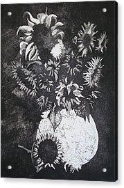 Sunflowers Acrylic Print by Sonja Guard
