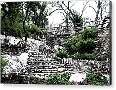 Sunken Gardens Collection I Acrylic Print by Diana Gonzalez