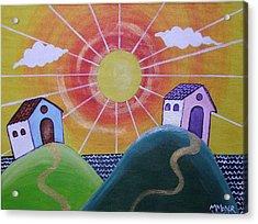 Sunny Acrylic Print by Monica Moser