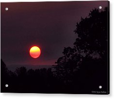 Sunrise  09 25 12 Acrylic Print by Joyce Dickens