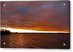 Sunrise At Ile-bizard ...  Acrylic Print by Juergen Weiss