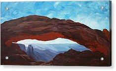 Sunrise At Mesa Arch Acrylic Print by Estephy Sabin Figueroa