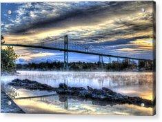 Sunrise At The Bridge Acrylic Print by Sharon Batdorf