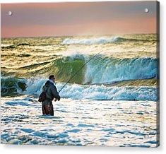 Sunrise Fisherman Acrylic Print by Vicki Jauron
