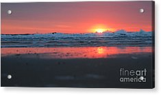 Sunrise From The Sand Acrylic Print by Linda Mesibov