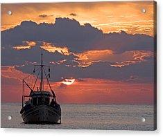 Sunrise In Crete Acrylic Print by Max Waugh
