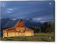 Sunrise On Old Wooden Barn On Farm Acrylic Print by Axiom Photographic