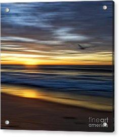 Sunrise Over The Ocean Acrylic Print by Diane Metz