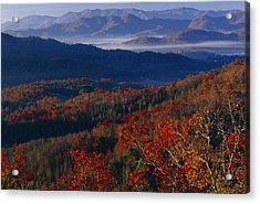 Sunrise View From Meadow Creek Lookout Acrylic Print by Raymond Gehman