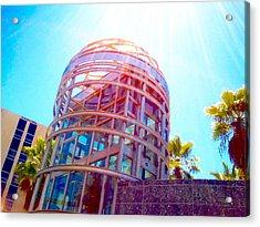 Sunroof Tower Acrylic Print by Rom Galicia