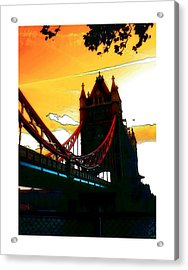 Sunset At Tower Brigde Acrylic Print by Stefan Kuhn