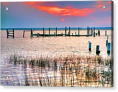 Sunset Bay Iv Acrylic Print by Steven Ainsworth