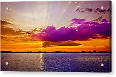 Sunset Acrylic Print by Bob and Nadine Johnston