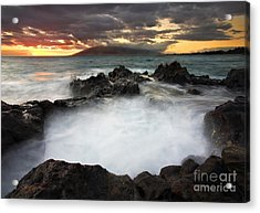 Sunset Boil Acrylic Print by Mike  Dawson