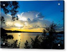 Sunset Fishing Acrylic Print by Shannon Harrington