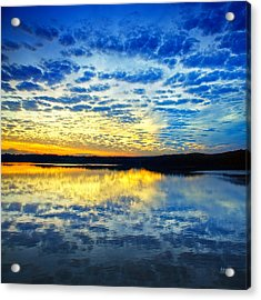 Sunset From Hwy 60 Acrylic Print by Steven Llorca