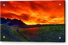 Sunset Acrylic Print by Hemendra Pratap