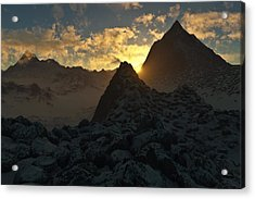 Sunset In The Stony Mountains Acrylic Print by Hakon Soreide