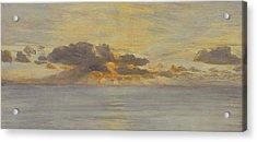 Sunset Acrylic Print by John Brett