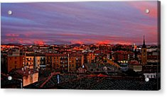 Sunset Over Segovia ... Acrylic Print by Juergen Weiss