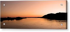 Sunset Over The Danube ... Acrylic Print by Juergen Weiss
