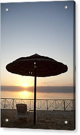 Sunset Over The Dead Sea Acrylic Print by Taylor S. Kennedy