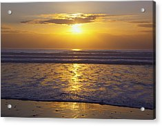 Sunset Over The Pacific Ocean Along The Acrylic Print by Craig Tuttle