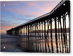 Sunset Pier San Simeon California 2 Acrylic Print by Bob Christopher