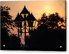 Sunset Place Vouquelin Acrylic Print by John Schneider