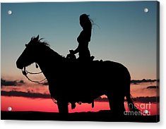 Sunset Ride Acrylic Print by Val Armstrong