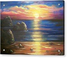 Sunset Seascape Acrylic Print by Joni McPherson