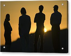 Sunset Silhouette Over Corral Canyon Acrylic Print by Rich Reid